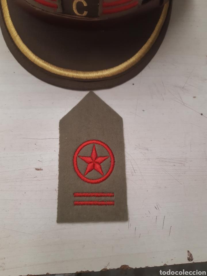 Militaria: Gorra replica comisario politico de batallon con pepito bordado (leer descripcion) - Foto 4 - 141642266