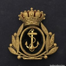Militaria: FRONTAL PARA GORRA VERANO OFICIAL MARINA EPOCA AXIII. Lote 135427230
