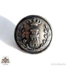 Militaria: BOTÓN CUERPO DE INGENIEROS ALFONSO XIII - 2,4 CM DE DIÁMETRO. Lote 135666267