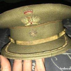 Militaria: ANTIGUA GORRA PLATO EJÉRCITO TIERRA COMANDANTE ÉPOCA FRANQUISTA. Lote 135775034