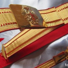 Militaria: CINTURON GALA EJERCITO DE TIERRA ESPAÑOL.NUEVO A ESTRENAR EN SU CAJA. Lote 136050378