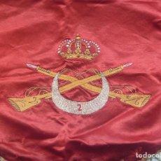 Militaria: INCREIBLE GALA DE TAMBOR DEL REGIMIENTO DE REGULARES MELILLA Nº 2. BORDADO Y ANTIGUO. Lote 136092802