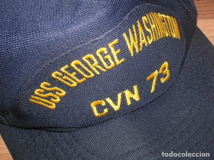 GORRA DEL PORTAAVIONES NUCLEAR NORTEAMERICANO GEORGE WASHINGTON. FABRICADA EN USA. ORIGINAL 100%. (Militar - Boinas y Gorras )