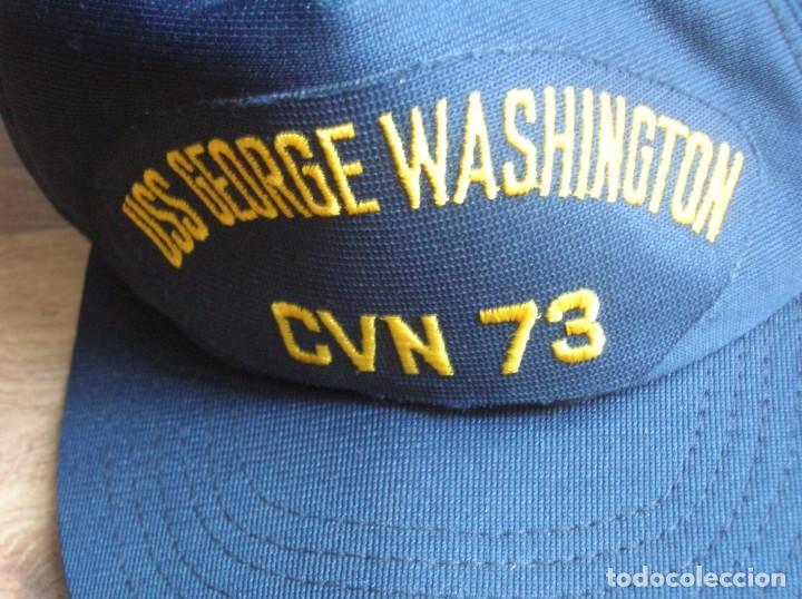 Militaria: GORRA DEL PORTAAVIONES NUCLEAR NORTEAMERICANO GEORGE WASHINGTON. FABRICADA EN USA. ORIGINAL 100%. - Foto 5 - 136201050