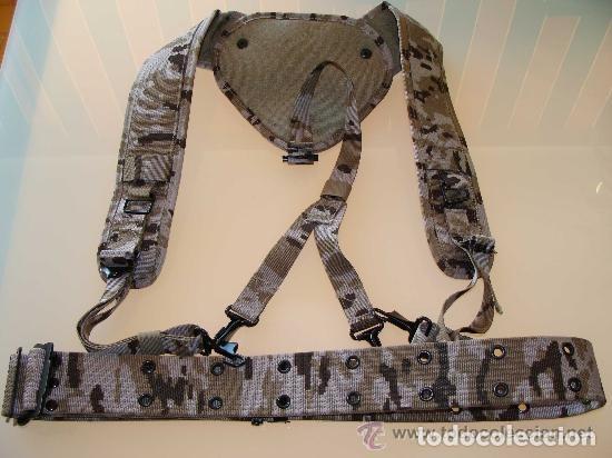 Militaria: Trinchas y cinturón de campaña en camuflaje árido pixelado. - Foto 3 - 136635498