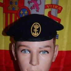 Militaria: BOINA DE LA ARMADA ESPAÑOLA MARINERIA/MARINA ESPAÑOLA/02. Lote 138704602