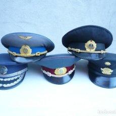 Militaria: GORRA ERA COMUNISTA BULGARIA. LOTE DE 5: FERROCARRILES, MARINA, TIERRA, POLICIA Y BOMBEROS. Lote 138909666