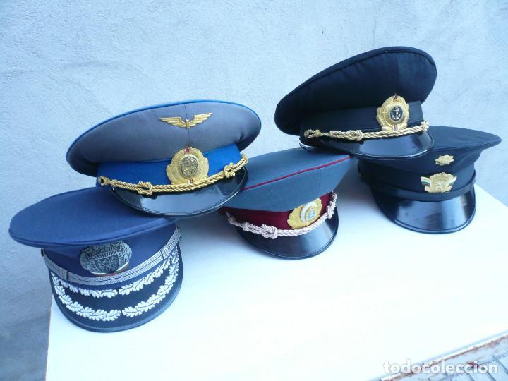 Militaria: GORRA ERA COMUNISTA BULGARIA. LOTE DE 5: FERROCARRILES, MARINA, TIERRA, POLICIA Y BOMBEROS - Foto 11 - 138909666
