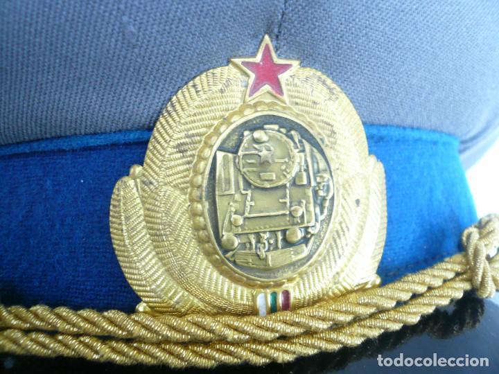 Militaria: GORRA ERA COMUNISTA BULGARIA. LOTE DE 5: FERROCARRILES, MARINA, TIERRA, POLICIA Y BOMBEROS - Foto 12 - 138909666