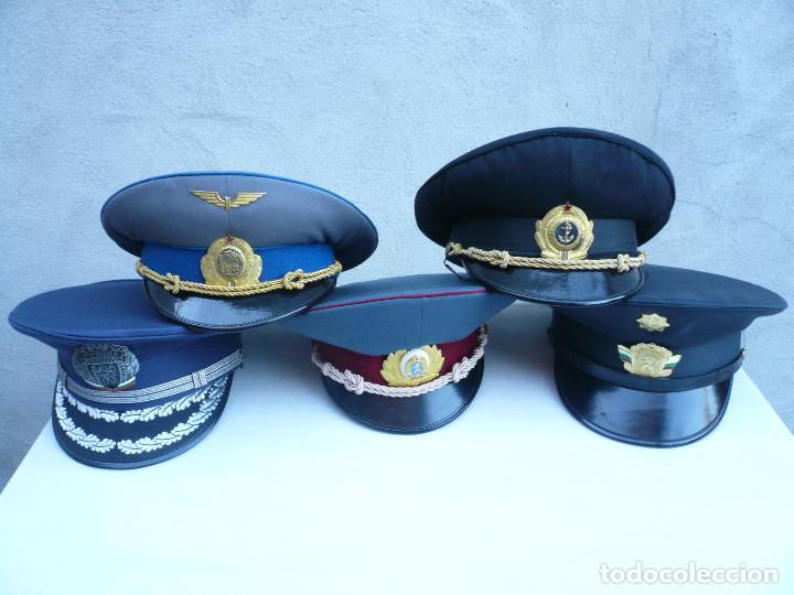 Militaria: GORRA ERA COMUNISTA BULGARIA. LOTE DE 5: FERROCARRILES, MARINA, TIERRA, POLICIA Y BOMBEROS - Foto 17 - 138909666