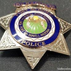 Militaria: PLACA Y EMBLEMA POLICIAL TRIBU INDIA USA. Lote 139380038