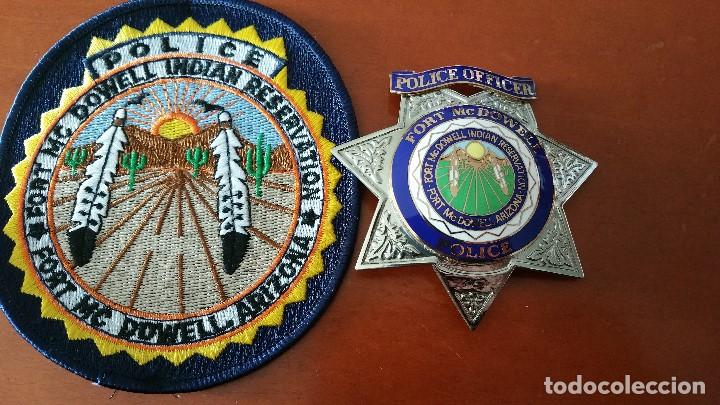 Militaria: placa y emblema policial tribu india USA - Foto 3 - 139380038