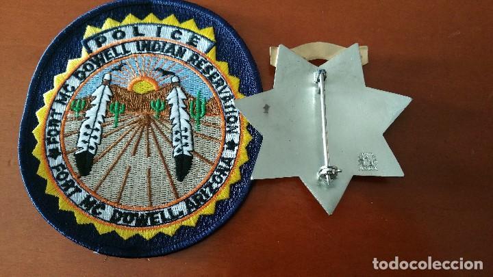 Militaria: placa y emblema policial tribu india USA - Foto 4 - 139380038