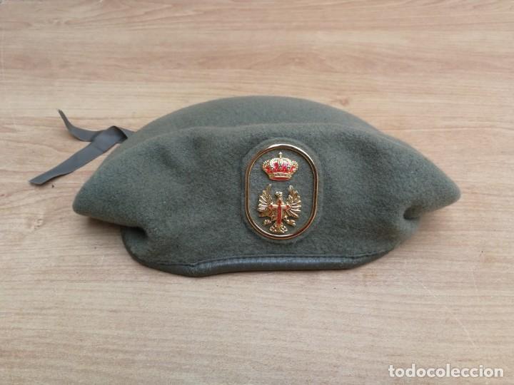 BOINA EJÉRCITO DE TIERRA ESPAÑOL AÑO 1991 TALLA 55 (Militar - Boinas y Gorras )