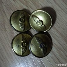 Militaria: 4 BOTONES GRANDES DE AVIACION, . Lote 139769858