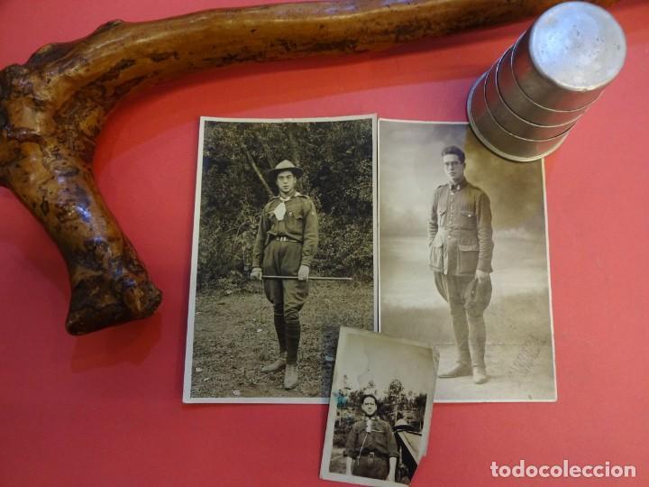 BOY-SCOUT. SCOUTISMO. LOTE DE ANTIGUO MIEMBRO. FOTOS Y OBJETOS ORIGINALES (Militar - Otros relacionados con uniformes )