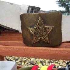 Militaria: CINTURÓN RUSO BLANCO DE GALA URSS CCCP. Lote 140462990