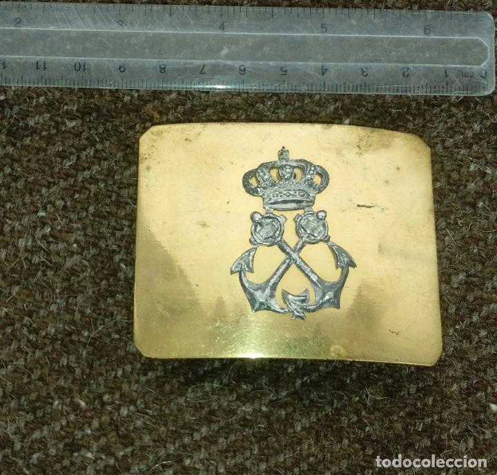 Militaria: Hebilla de gala, oficial. Infantería de Marina, modelo 1899. - Foto 3 - 140476998