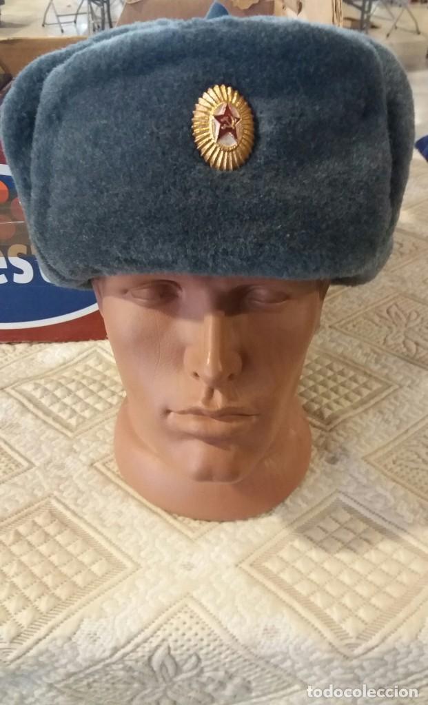 USHANCA, GORRO MILITAR SOVIÉTICO, URSS. RUSO. (Militar - Boinas y Gorras )