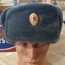Militaria: USHANCA, GORRO MILITAR SOVIÉTICO, URSS. RUSO.. Lote 140942678