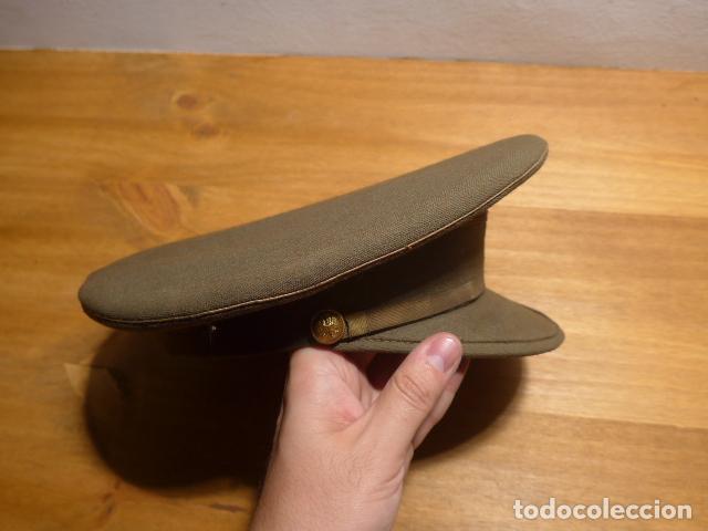 Militaria: Antigua gorra de plato, modelo 43 de visera inclinada como las de Division Azul. Original. T58 - Foto 4 - 141085818