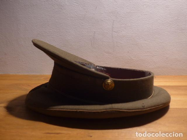 Militaria: Antigua gorra de plato, modelo 43 de visera inclinada como las de Division Azul. Original. T58 - Foto 7 - 141085818