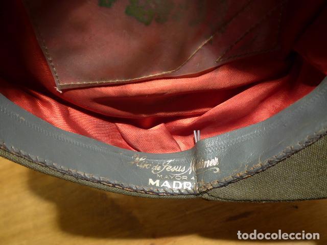 Militaria: Antigua gorra de plato, modelo 43 de visera inclinada como las de Division Azul. Original. T58 - Foto 8 - 141085818