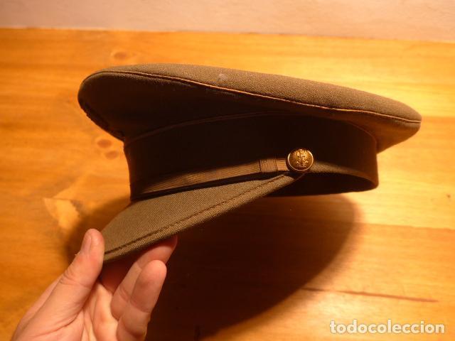 Militaria: Antigua gorra de plato, modelo 43 de visera inclinada como las de Division Azul. Original. T58 - Foto 9 - 141085818