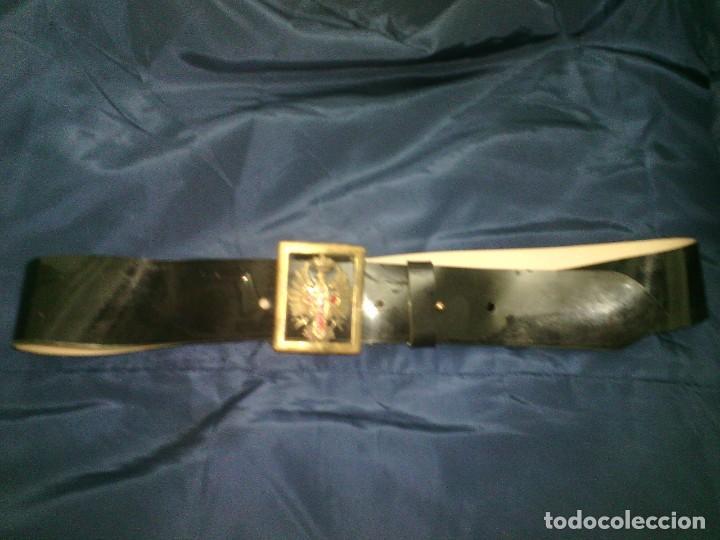 Militaria: Hebilla y cinturon militar de gala charol - Foto 2 - 141241150