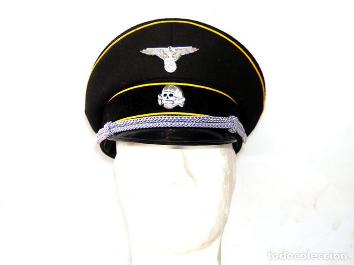 3f2f9eb81d434 Militaria  GORRA DE PLATO ALEMANIA NAZI SS