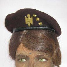 Militaria: IMPOSIBLE GORRA BOINA CAPITAN POLICIA ARMADA EPOCA FRANCO, VALENCIA. Lote 146541732