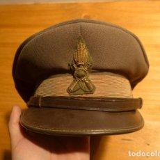 Militaria: ANTIGUA GORRA DE PLATO ITALIANA, ORIGINAL. ITALIA. . Lote 142876518