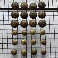 Militaria - BOTÓN : LOTE DE 24 BOTONES ANTIGUOS (12 GRANDES Y 12 PEQUEÑOS) DE INFANTERÍA DE MARINA. ENVÍO GRATIS - 143620954