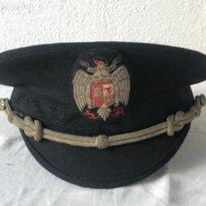 Militaria: GORRA DE PLATO DE JERARCA FALANGE ESPAÑOLA , AÑOS 40-50 .CASA YUSTAS MADRID. Lote 143957286