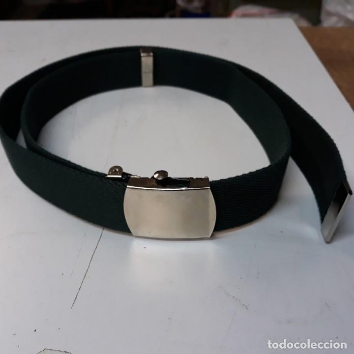 Militaria: Cinturon verde de uniforme de cuerpos comunes de las Fuerzas Armadas - Foto 2 - 144035906