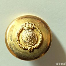 Militaria: BOTÓN NOBILIARIO FABRICADO POR LUCAS SAENZ EN MADRID. Lote 144531854