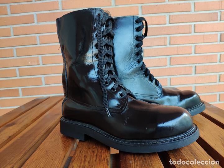 Militaria: Antiguas botas de cuero, BRIPAC EZAPAC paracaidistas imepiel T39 - Foto 7 - 180426128