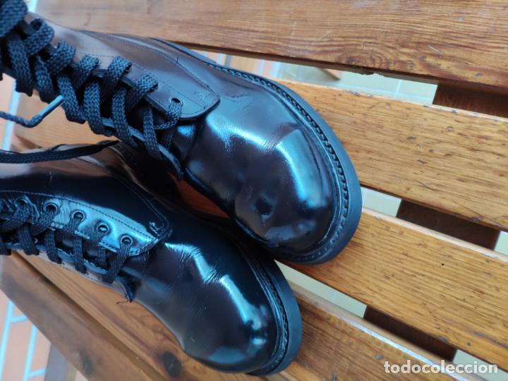Militaria: Antiguas botas de cuero, BRIPAC EZAPAC paracaidistas imepiel T39 - Foto 2 - 180426128
