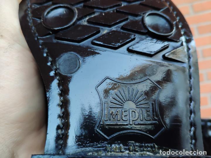 Militaria: Antiguas botas de cuero, BRIPAC EZAPAC paracaidistas imepiel T39 - Foto 3 - 180426128