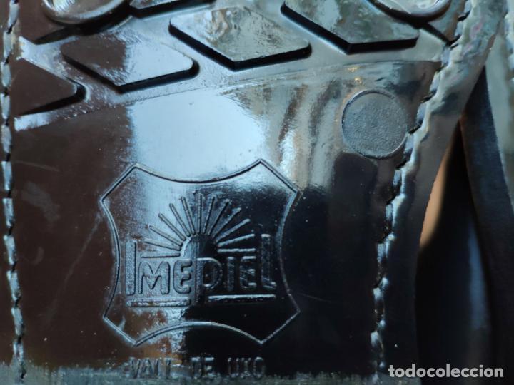 Militaria: Antiguas botas de cuero, BRIPAC EZAPAC paracaidistas imepiel T39 - Foto 6 - 180426128