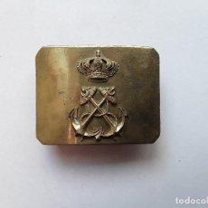 Militaria: HEBILLA DE INFANTERÍA DE MARINA. ÉPOCA ALFONSO XIII. ENVÍO GRATUITO CERTIFICADO.. Lote 145634474