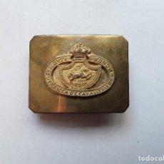 Militaria: HEBILLA DE LA REAL MAESTRANZA DE CABALLERÍA DE RONDA. HECHA EN DOS PIEZAS. ENVÍO GRATUITO.. Lote 145636726
