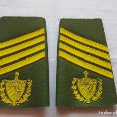 Militaria: CUBA CHARRETERA GRADO SARGENTO DE SEGUNDA. Lote 147719062
