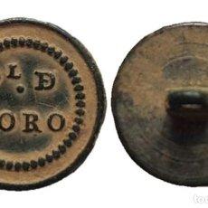 Militaria: BOTÓN GUERRA DE LA INDEPENDENCIA, PROVINCIAL DE TORO, 15 MM.. Lote 148195626