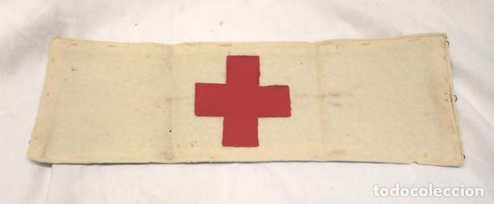 BRAZALETE CRUZ ROJA EJERCITO REPUBLICANO COMISION DE BARCELONA (Militar - Otros relacionados con uniformes )