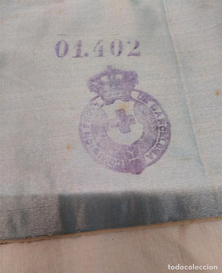 Militaria: Brazalete Cruz Roja Ejercito Republicano Comision de Barcelona - Foto 2 - 148514658