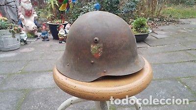 WW2. BULGARIA. CASCO M36. COMPLETO (Militar - Otros relacionados con uniformes )