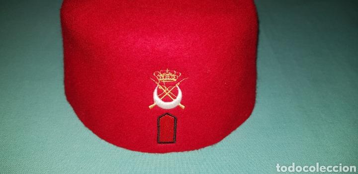 Militaria: GORRO TARBUSH MILITAR ORIGINAL DE REGULARES EJERCITO ESPAÑOL - Foto 3 - 150643441