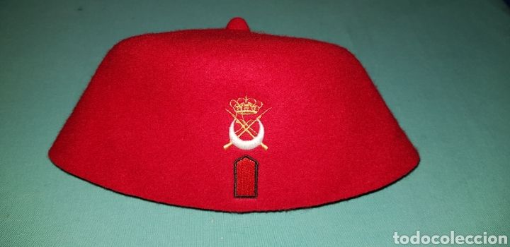 Militaria: GORRO TARBUSH MILITAR ORIGINAL DE REGULARES EJERCITO ESPAÑOL - Foto 5 - 150643441