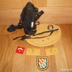 Militaria: LOTE BOINA EMBLEMAS FUNDA PISTOLA DE LA UNIDAD MILITAR DE EMERGENCIAS-UME CON EMBLEMA. Lote 150950826